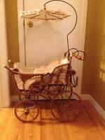 Antique doll stroller from early 1900