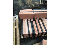 Red stone polished blocks stunning rrp £400