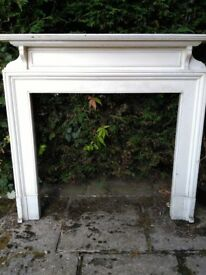 Period wooden fireplace surround with mantelpiece (#1)