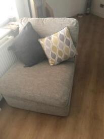 Grey comfy arm chair