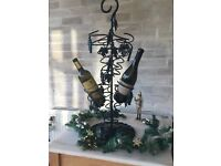 Attractive heavy Cast Iron Ornamental wine display rack