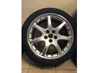 Jaguar BBS Monaco alloy wheel and tyre