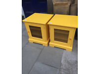 Modern Yellow Bedsides - Good Solid Quality . Size W 20in D 20in H 23in. £60 each