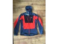 Men's Brand New Haglofs Seran Hood Tarn Blue/ Habanero