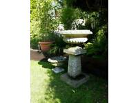 Beautiful vintage planters and pedestal