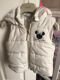 Girls Minnie Mouse Gilet