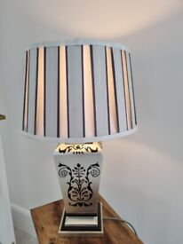 large silver/grey table lamp
