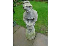 garden statue - lady with dove