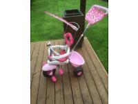 Pink trike with sunshade