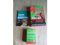 Complete Italian learning kit, phrase book and dictionary