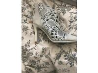 BNWT Silver Ankle Boots Size 6