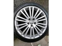 Mk5 golf R32 genuine alloys. Alloy wheels with tyres