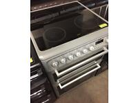 Hotpoint 600 ceramic top cooker silver