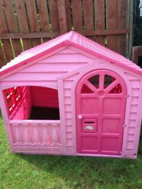 Girls pink playhouse