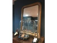 19th Century Antique French Louis Philippe Foxed Mirror
