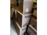 Selection of packing boxes - medium and large cardboard