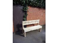Garden bench. Made of solid wood. FREE LOCAL DELIVERY !!!