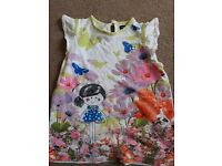 Girls floral tshirt