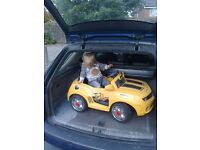 kids ride on car 6v 6 volt battery powered yellow bumble bee car