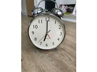 Large Chrome Alarm Clock