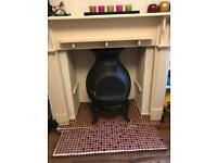 Old cast iron chimnea