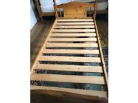 Solid pine bed frame