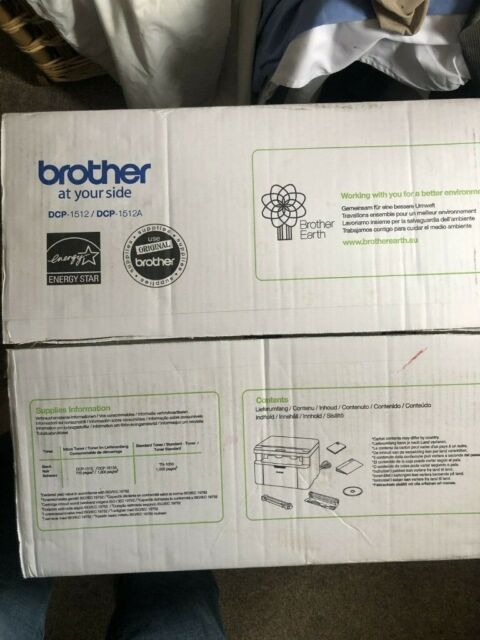 Brother DCP-1512 A4 Mono Laser Printer, PC Connected, Print, Copy and Scan  (RRP £99)   in London   Gumtree