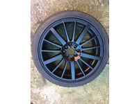 "BMW 3 series e21 e30 Black Alloy wheels 18"" inch Toyota celica corolla mr2 yaris alloys wheel Skoda"