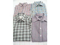 Four x men's brushed cotton shirts (small/medium)