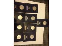 Full set 2016/2017 Beatrix potter 50p coins UNCIRCULATED both full sets
