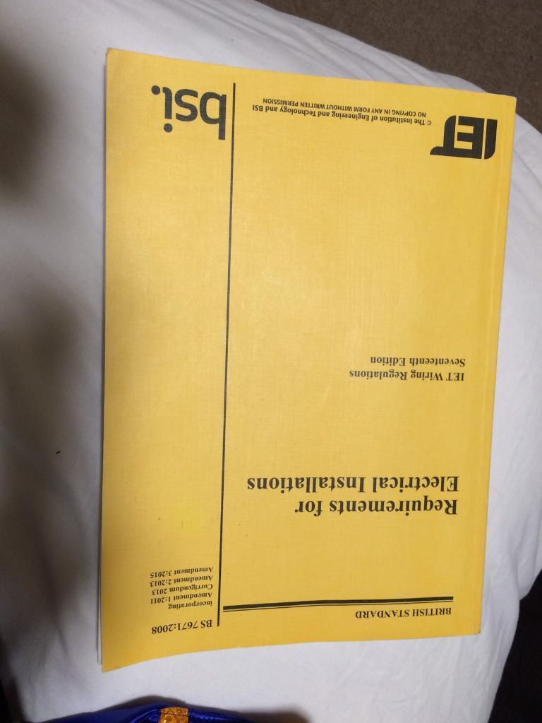 17th Edition Book Yellow In Uxbridge London Gumtree Iet Wiring Regulations Amendment 1