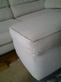 3 seater sofa + matching footstool - immaculate condition
