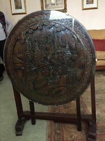 Beautiful Chinese carved antique folding table