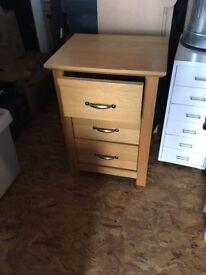 One Oak bedside set of drawers