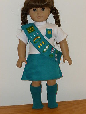 "Junior Girl Scout Uniform Outfit 4 PC Set Fits 18"" American Girl Doll on Rummage"