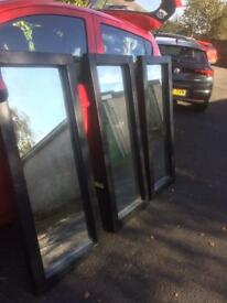 3 faux leather very dark brown full length mirrors