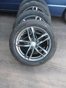 BRAND NEW NEVER MOUNTED AUDI A5 / S5 HIGH PERFORMANCE WINTER TIRES 225 / 50 / 17 ON AUDI REPLICA ALLOY WHEELS.