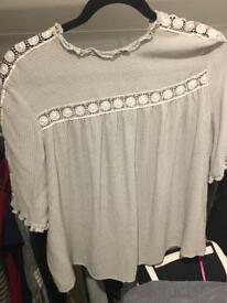 M&s grey top size 14