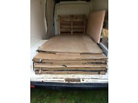 Job lot of hardboard.