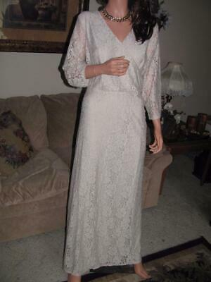 Jessica London Full-Length Floral Stretch Lace Gown, Sz. 16, NWT - $119.00