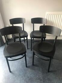 IKEA IDOLF Chairs in Black x 4