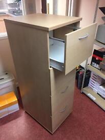 Beech / wood effect filing cabinet