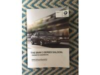 BMW 3 Series Owners Handbook 2012-2017