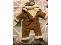 River Island Baby Girl Sheepskin All In One 6-9 months