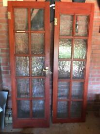 Pair of Internal wooden dinning room doors