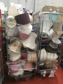 2 full cages of lamp light shades £30