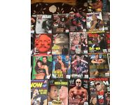 27 wwf magazines good condition and 12 other wrestling magazines