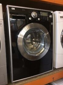 LG 8KG WASHING MACHINE BLACK RECONDITIONED