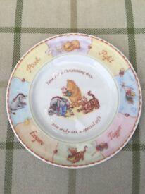 Disney Winnie The Pooh Christening Plate