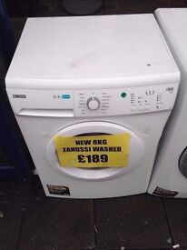 ZANUSSI 8KG WASHING MACHINE NEW/GRADED